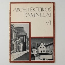 Architektūros paminklai T. VI