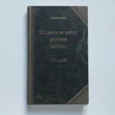 Iš Lietuvos teatro istorijos šaltinių 1761-1853