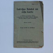 Latvijas fiziska un celu karte