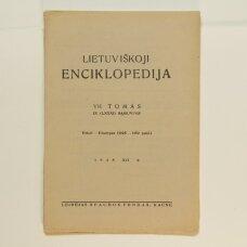 Lietuviškoji enciklopedija VII Tomas IX sąsiuvinis