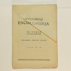 Lietuviškoji enciklopedija VIII Tomas VIII sąsiuvinis