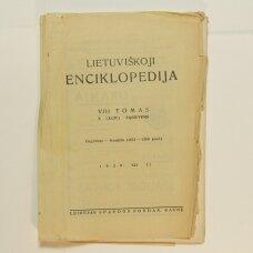 Lietuviškoji enciklopedija VIII Tomas X sąsiuvinis