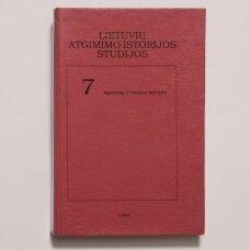 Lietuvių atgimimo istorijos studijos T. 7