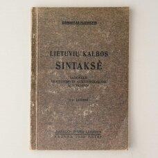 Lietuvių kalbos sintaksė : Vadovėlis vidurinėms ir aukštesniosioms mokykloms