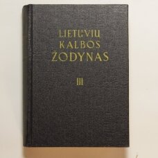 Lietuvių kalbos žodynas T. III