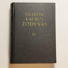 Lietuvių kalbos žodynas T. VI