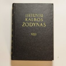 Lietuvių kalbos žodynas T. VIII