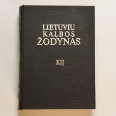 Lietuvių kalbos žodynas T. XII