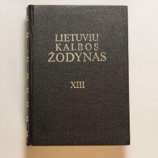 Lietuvių kalbos žodynas T. XIII
