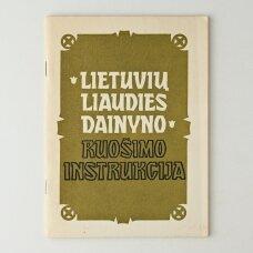 Lietuvių liaudies dainyno ruošimo instrukcija