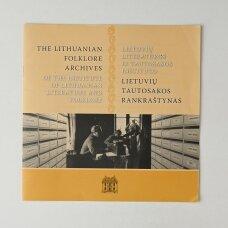 Lietuvių literatūros ir tautosakos instituto lietuvių tautosakos rankraštynas : kolekcijos