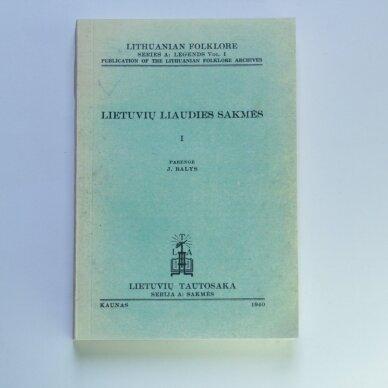 Lietuvių liaudies sakmės I tomas