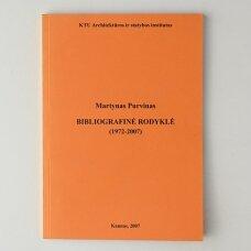 Martynas Purvinas. Bibliografinė rodyklė (1972 - 2007)