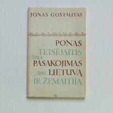 Ponas Teisėjaitis, arba Pasakojimas apie Lietuvą ir Žemaitiją